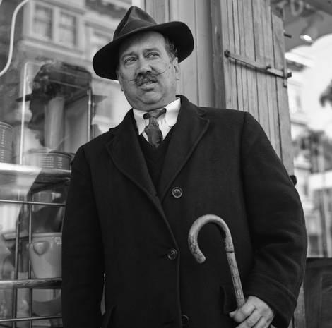 Man with Waxed Mustache/ Rolleiflex 2.8c
