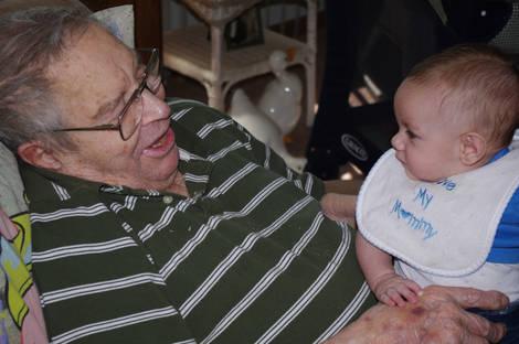 great-grandpa and great-grandson