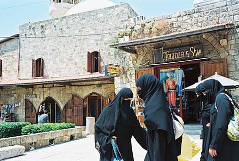 Women Shopping in Byblos, Lebanon