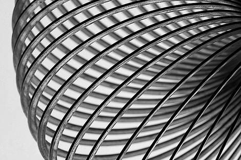 B/W Slinky IX