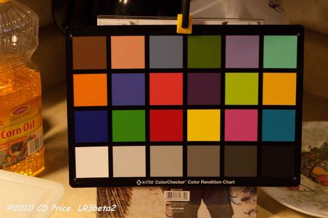 Lightroom 3 beta Release 2 Color Checker Before