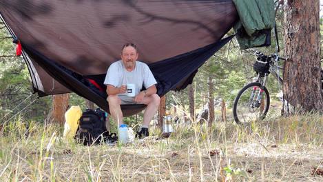 Bikepacking with net camera