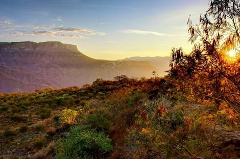 Canyon psychedelic sunrise