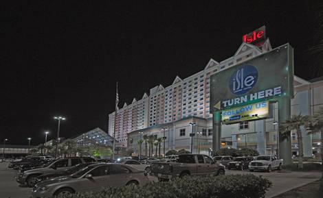 Nighttime at the Isle Casino