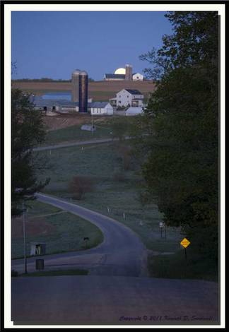 Moonset Wisconsin 2011 Ken Sundwall