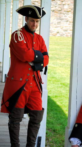 Living History  Dressed as a member of the Royal American Regiment