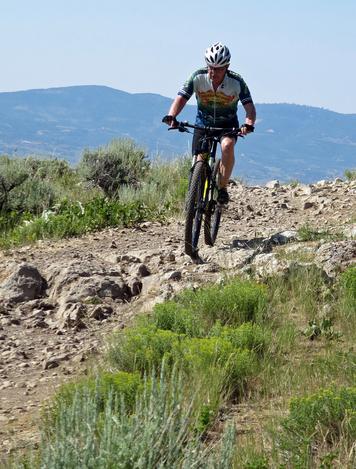 Mountain biking on Lost Prospector in Park City