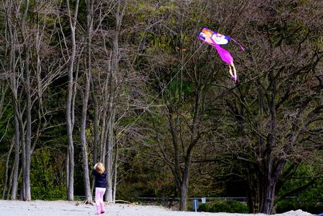 Girl and a Kite