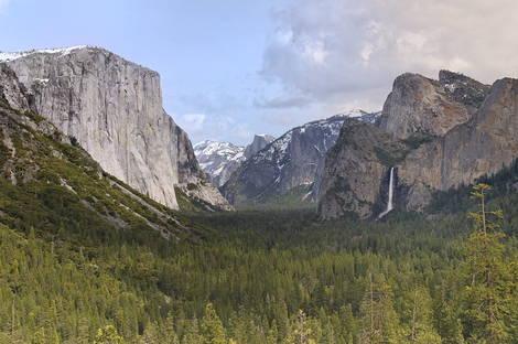 Yosemite Valley and Bridal Veil Falls