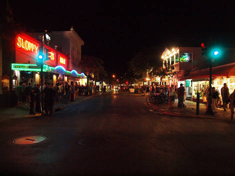 Downtown Key West afterdark