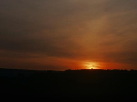 SUN SET AT GETTYSBERG, PA.