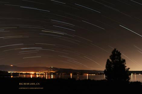Star Trails - Big Bear Lake, CA