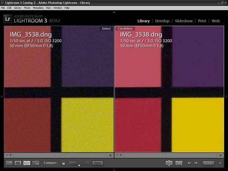 Lightroom 3 beta Release 2 Screen