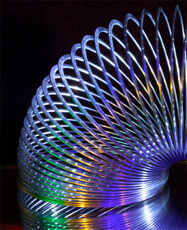 Slinky With Colored Lights