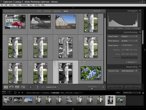 Lightroom 3 beta Release 2 Screen