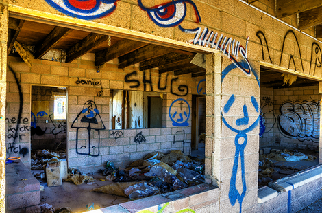 Abandoned House Graffiti in Bombay Beach California
