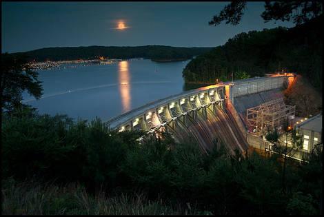 Allatoona Dam, Super Moon
