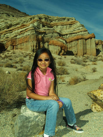 Alyssa at red rock canyon