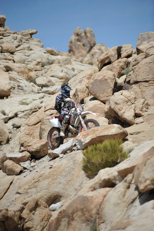 Dirt Biker 'On the Rocks'