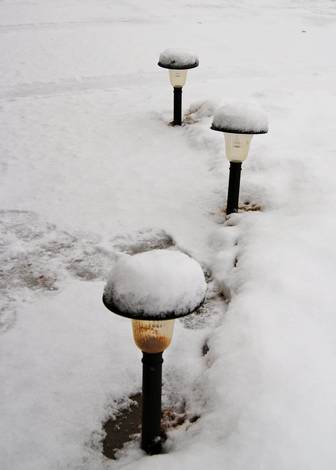 solar lights with frosting...