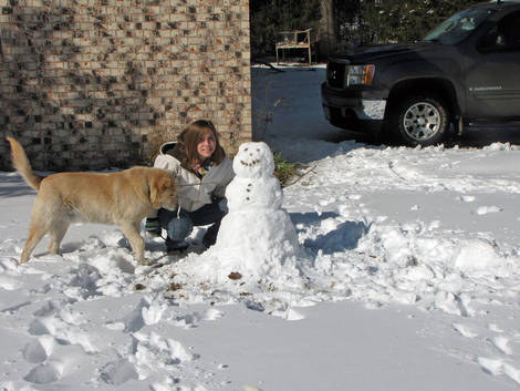 Snowy Oklahoma Christmas