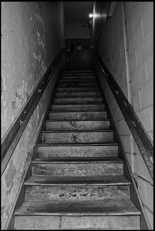 Stairway in Black and White