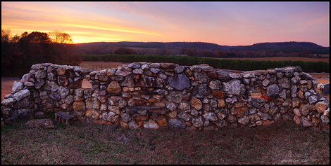 Old Cemetery Wall