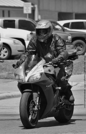 A motorcycle on Wilson Street