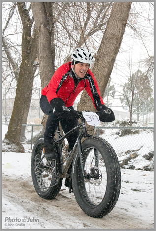 Nikon 1 AW1 Snowy Fat Bike Action