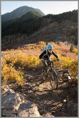 Fall Mountain Biking Near Ogden, Utah