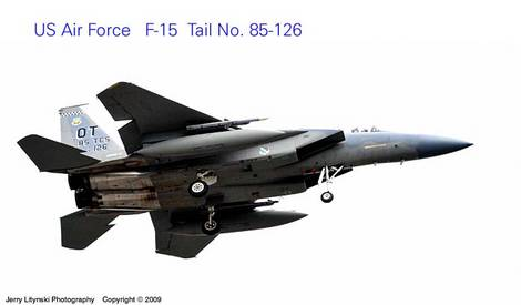 One US Air Force jet fighter