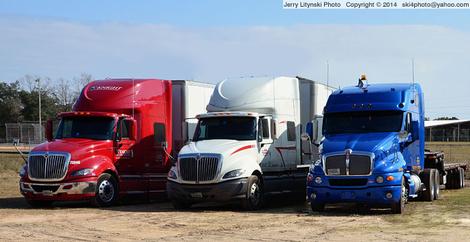 A trio of big rigs