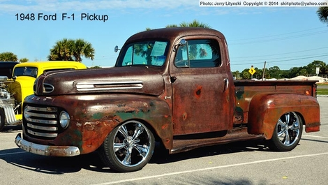 A 1948 F-1 Ford pickup truck.