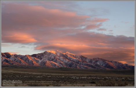 Alpenglow On the Stansbury Mountains
