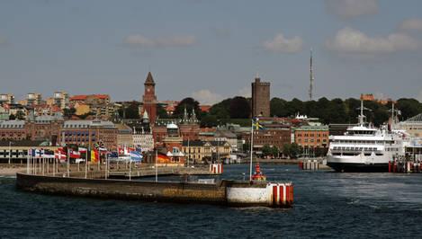 A side of Helsingborg port