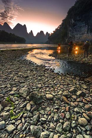 Morning at Li river ,Guilin China