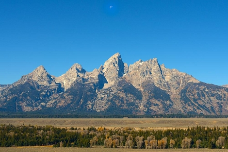 Moon over the Grand Teton