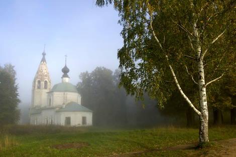 russia, dunilovo, ples, church, golden ring, landscape, volga