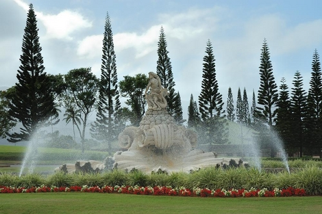 Princeville Fountain, Kauai, Hi