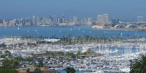 San Diego Yacht Club and City