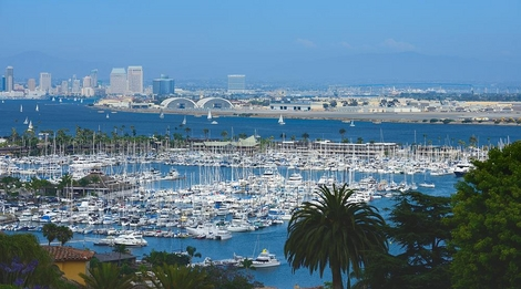 San Diego Yacht Club and Coronado Bridge
