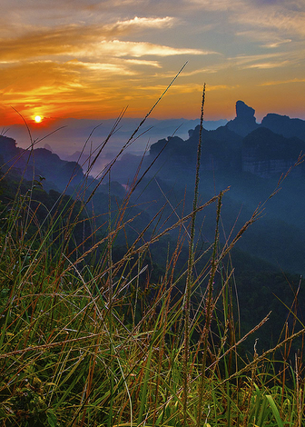 Sunrise at mount Dan Xia China
