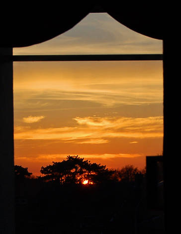 Sunset from living room
