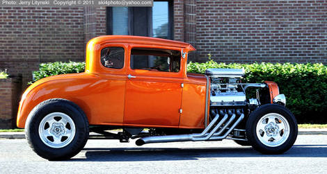 Car show image - a 1931 Ford Street Rod