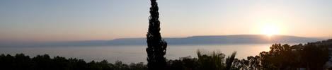 Sea of Galilee at sunrise