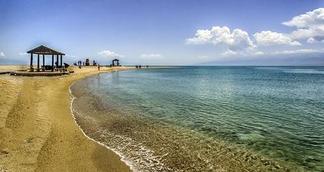 Qinghai Lake beach