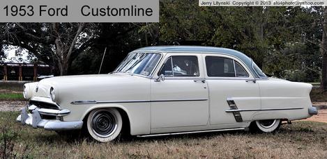 A *For Sale* 1953 Ford sedan