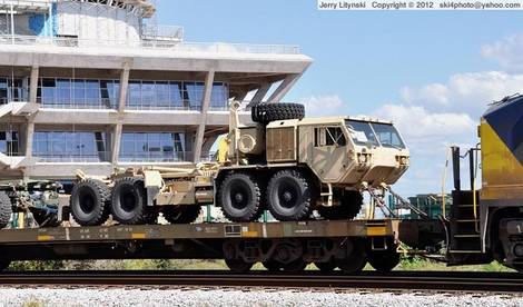 Military equipment on the move