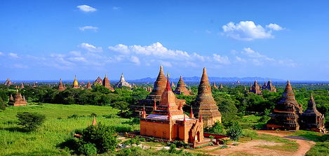 Tample of Bagan in Burma