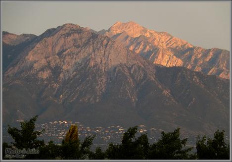 Mt. Olympus Sunset From the Utah Capitol Building